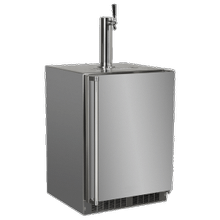 See Details - 24-In Outdoor Built-In Dispenser For Beer, Wine Or Draft Beverages with Door Style - Stainless Steel