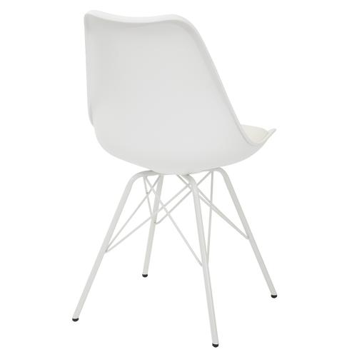 Emerson Student Side Chair With 4 Leg Base In White Finish