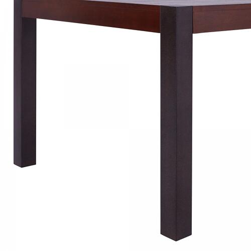 Armen Living Tatum Contemporary Dining Table in Auburn Bay Finish and Sedona Wood Top