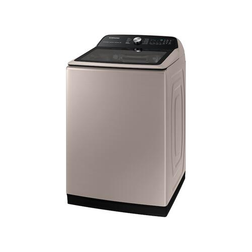 Samsung - 5.2 cu. ft. Large Capacity Smart Top Load Washer with Super Speed Wash in Champagne