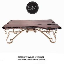 Mesquite Wood Live Edge Rectangular Coffee Table