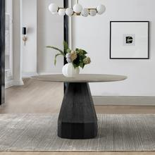See Details - Revival Concrete and Oak Round Dining Table