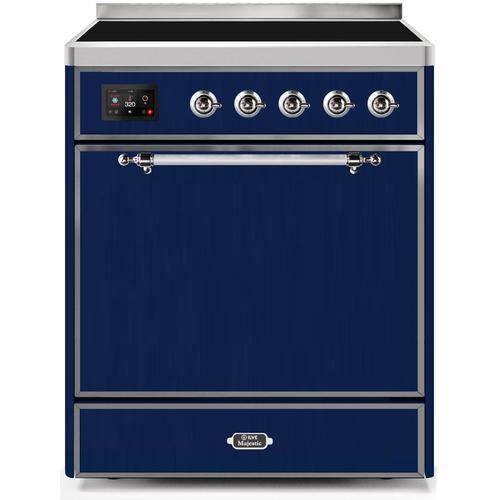 30 Inch Blue Electric Freestanding Range