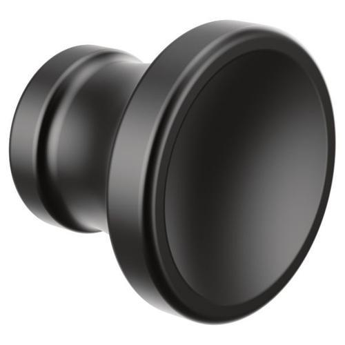 Colinet matte black drawer knob
