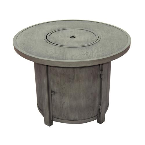 """Spirit 34"""" Round Gas Fire Pit Chat Table"""