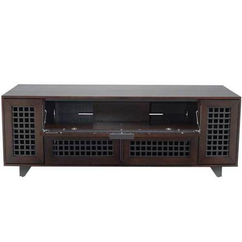 """Product Image - Walnut AV Stand For TVs up to 70"""" and 100 lbs / 45 kg"""