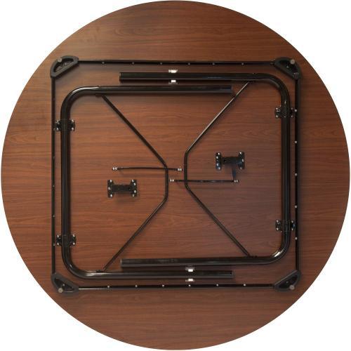Flash Furniture - Advantage 5 ft. Round High Pressure Laminate Folding Banquet Table