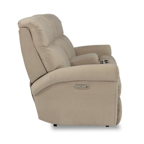 Davis Power Reclining Loveseat with Console & Power Headrests