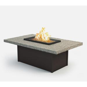 """36"""" x 60"""" Rectangular Coffee Fire Pit Ht: 19"""" Aurora Aluminum Base (Indicate Top & Frame Color)"""