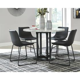 Centiar Dining Table & 4 Chairs Two-Tone Black