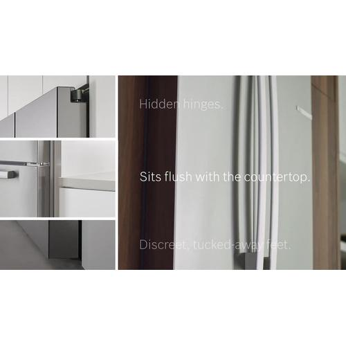 800 Series French Door Bottom Mount 36'' Easy Clean Stainless Steel B36CL80ENS