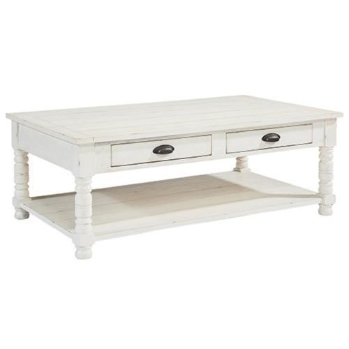TABLE,COFFEE BOBBIN - JOS WHIT