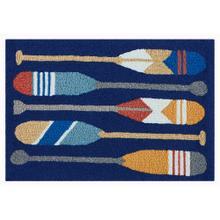 Liora Manne Frontporch Paddles Indoor/Outdoor Rug Navy