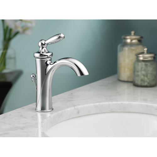 Brantford Brushed nickel one-handle high arc bathroom faucet