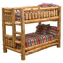 Traditional Bunk Bed - Single/Single - Natural Cedar - Ladder Right