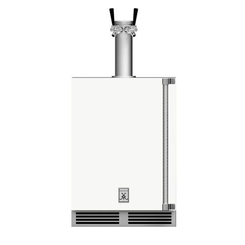 """24"""" Hestan Outdoor Double Faucet Beer Dispenser - GFDS Series - Froth"""