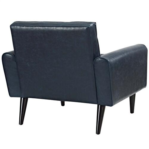 Modway - Delve Upholstered Vinyl Accent Chair in Blue
