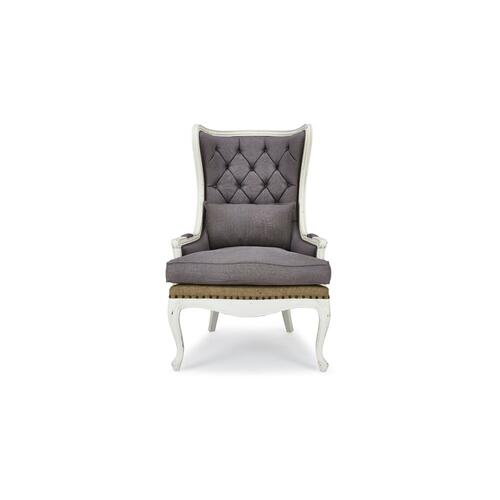 Brittany Wing Chair w/ Tufted Cushion
