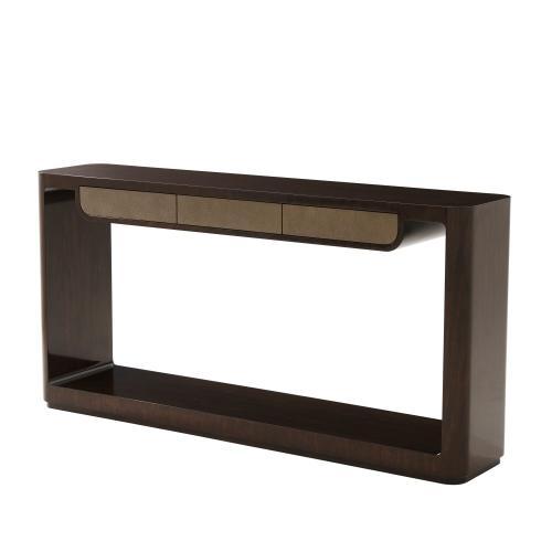 Theodore Alexander - Bauer Console Table II - Walnut & Shagreen