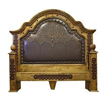 King Alamo Tooled/Perferated Leather Bed