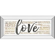 """Love"" By Marla Rae Mirror Framed Print Wall Art"
