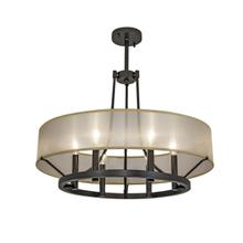 "Ghost 24"" Chandelier with Glass - PAINTED Architectural Bronze Powder Coat"