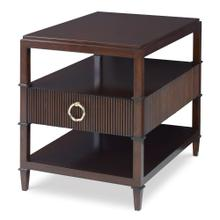 Reeded End Table
