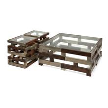 Greyson Metal Clad Wood Tables - Set of 3