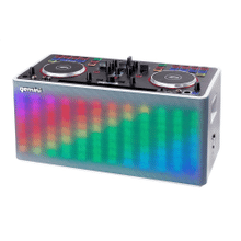 Portable DJ Mixer With Bluetooth Speaker