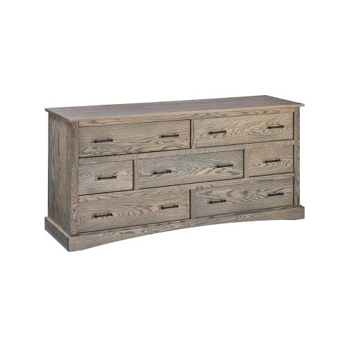 Summerset 7 Drawer Dresser - Grey Flannel