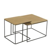 S/2 Aluminum Accent Tables, Gold
