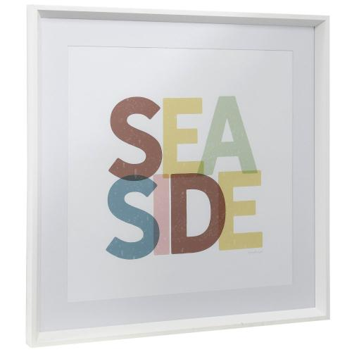 Style Craft - SEASIDE  25in w X 25in ht  Framed Print Under Glass with Matte