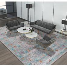 """Vintage Style Soft Polyester Print on Design Elevate 231 Area Rug by Rug Factory Plus - 7'6"""" x 10'3"""""""