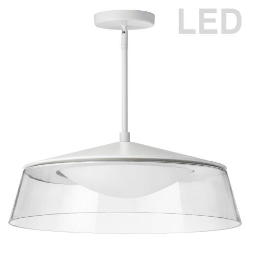 Product Image - 35w Pendant Matte White Finish W/ Clear Glass