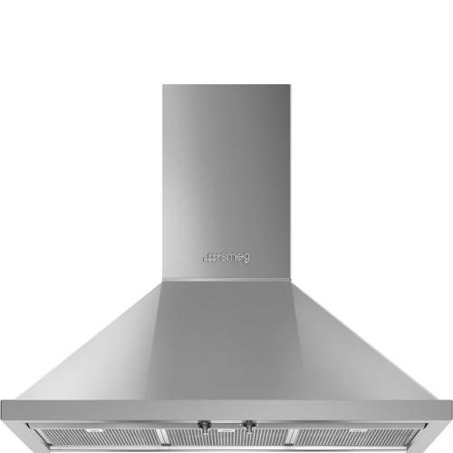 "36"" Portofino Chimney Hood, Stainless steel"