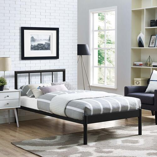 Gwen Twin Bed Frame in Brown
