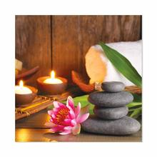 See Details - Stone and Lotus Flowers Fine Wall Art