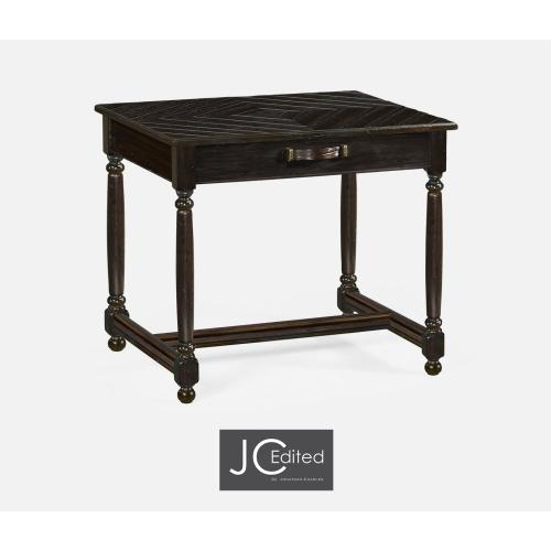 Dark Ale Rectangular Side Table with Contrast Inlay