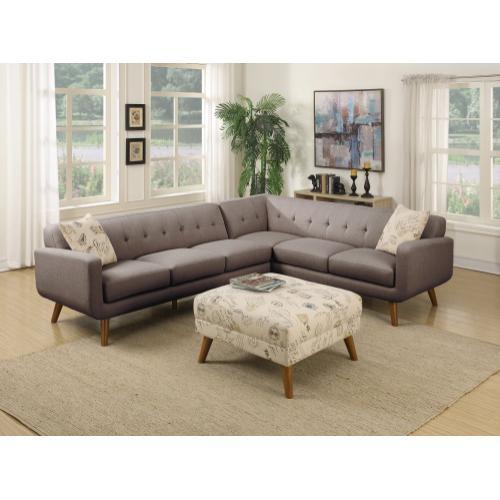 Emerald Home Remix Rsf Corner Sofa W/1 Accent Pillow Charcoal U3789m-12-13 (copy)
