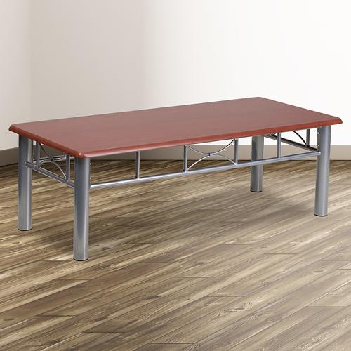 Flash Furniture - Mahogany Laminate Coffee Table with Silver Steel Frame