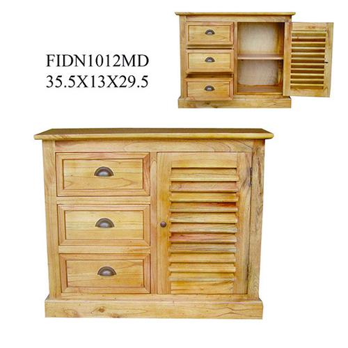 Crestview Collections - 35.5X13X29.5 SOLID MINDI WD CABINET,1 DR 3 DRAWER 1PK,9.49'