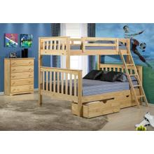 Arcadia Bunk Twin Full With Ubc. Cherry Only.