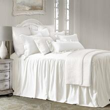 See Details - Luna Bedspread Set W/ Drop Skirt - Full / Blush