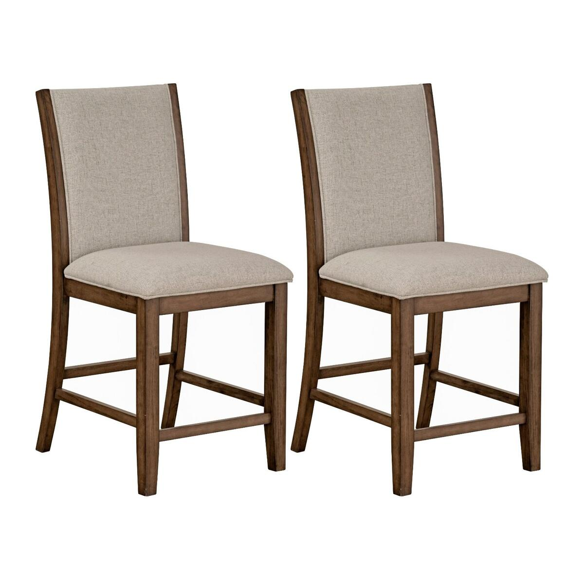 Zayden 2-Pack Counter Height Barstool, Brown