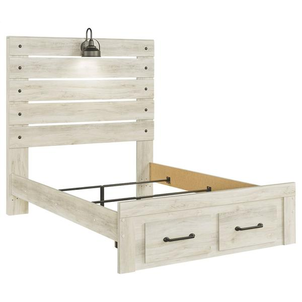 Cambeck Full Panel Bed With 2 Storage Drawers