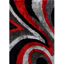 """Designer Shag S.V.D. 26 Area Rug by Rug Factory Plus - 4' x 5'4"""" / Red"""