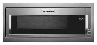 900 Watt Built-In Low Profile Microwave with Slim Trim Kit - Stainless Steel