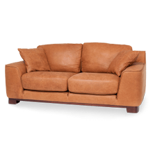 Nafelli Leather Loveseat in Clay Espresso