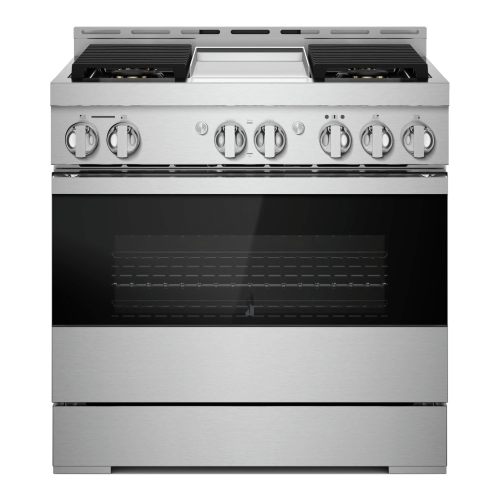 "36"" NOIR™ Gas Professional-Style Range with Chrome-Infused Griddle"