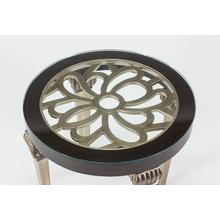 """View Product - End Table with Glass 25x25x25"""""""